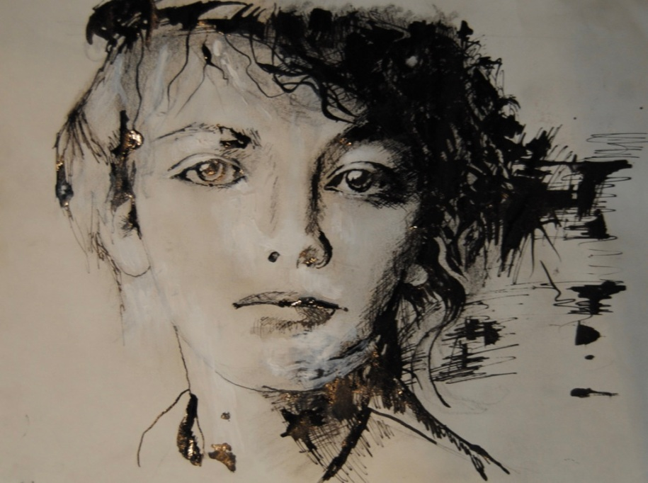 hommage à Camille C 22X15cm dessin sanguines 250 €